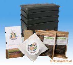 """Wurmfarm Starter Set mit Kompostwürmern: """"Wurm Cafe"""""""