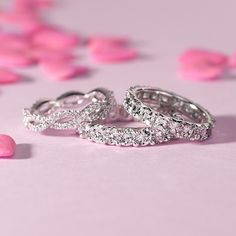 Love at first sight! These elegant eternity rings make the perfect gift for your #Valentine.