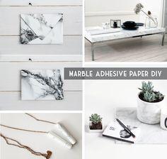 DIY con papel adhesivo de mármol