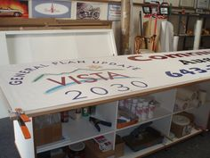 How a banner is made Banner, Loft, Bed, Furniture, Home Decor, Banner Stands, Lofts, Stream Bed, Banners
