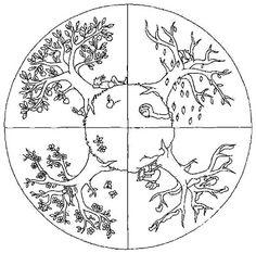 Mandala arbre saison #mandala #mandalas #coloriage