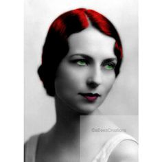 Agnes Moorehead Digitally Altered artwork print - Original Signed 5x7... (62 DKK) ❤ liked on Polyvore featuring home, home decor, wall art, people, faces, ladies, motivational wall art, inspirational home decor, inspirational wall art and paper wall art