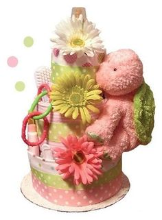 The Perfect Gift Basket - Little Turtle Diaper Cake 3 Tier
