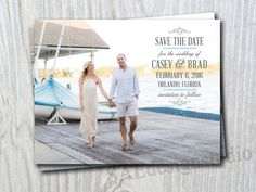 Received our Save the Date magnets today and absolutely LOVE them! Beach theme destination Wedding Save The Dates by SAEdesignstudio