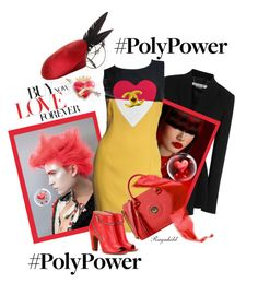 """""""Poly Power Spring 2016"""" by ragnh-mjos ❤ liked on Polyvore featuring Givenchy, Moschino, Maison Margiela, Rosie Olivia and Chanel"""