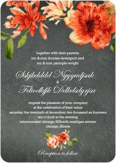 Orange African Daisy Wedding Invitation cards by Happyinvitation Art Deco Wedding Invitations, Wedding Invitation Cards, Wedding Themes, Shower Invitations, Invites, Wedding Ideas, Daisy Wedding, Wedding Scene, Wedding Season