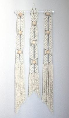 "Macrame Wall Hanging ""HANE no.7"" by HIMO ART, One of a kind Handcrafted Macrame/Rope art by effie"