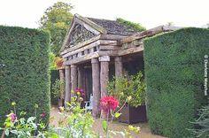Hand-hewn temple as garden folly