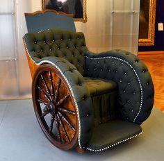 Wheelchair for Empress Elizabeth of Austria steampunk inspiration