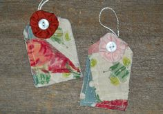 Vintage Patchwork Fabric Cutter Quilt, YoYo Hang Tags/Tie Ons for Everyday All Occasion Mother's Day. $4.25, via Etsy.