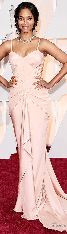 #Oscars2015 Zoe Saldana in Atelier Versace