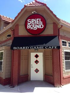 Spielbound Cafe, 3229 Harney Street in Omaha, Nebraska.    Over 1000 games and counting!  Playing a game requires either a membership or a $5 one-day pass.