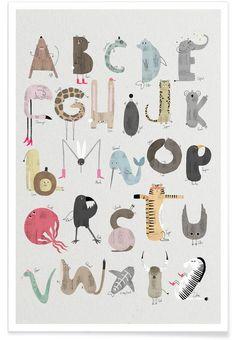 ABC Kids von typealive als Premium Poster ✓ Jetzt online kaufen bei JUNIQE ✓ Zuverlässiger Versand ✓ Täglich neue Designs - Jetzt entdecken!