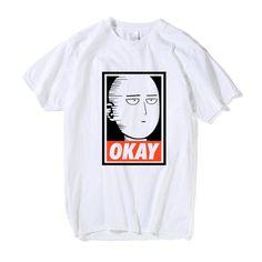 One Punch Man Saitama Okay T-shirt – Otakupicks