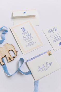 Yonder Design | Baby Elephant, Event Design, Baby Shower, Wedding Inspiration, Blue Ribbon, Graphic Design, Custom Invitation, Elephant Graphic,