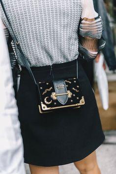 This mini Prada velvet astrology bag is everything