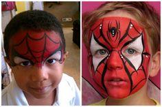 Doğal boyalarla çocuklara istediği karakterin yüzü yapılıyor, örümcek adam yüz boyama örnekleri de bunlardan birisi, örümcek adam yüz boyama örnekleri ile..