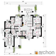 projekt Dom w akebiach 6 rzut parteru