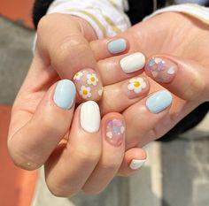 Nagellack Design, Nagellack Trends, Best Acrylic Nails, Acrylic Nail Designs, Milky Nails, Korean Nails, Korean Nail Art, Kawaii Nails, Fire Nails