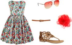 """8th grade graduation"" by abbybarbeau on Polyvore"
