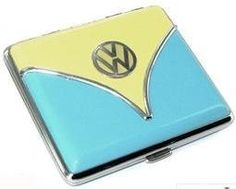 Blue VW Bus Cigarette Case  Introducing the New VW Collections at www.coolvwstuff.com Hundreds of Officially Licensed Volkswagen Products and Ship Globally!