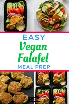 This 30 min falafel meal prep is served with fresh veggies and tahini. Falafel is a traditional Middle Eastern dish made. Vegan Meal Prep, Easy Meal Prep, Easy Meals, Work Meals, Work Lunches, Keto Meal, Lunch Recipes, Dinner Recipes, Healthy Recipes