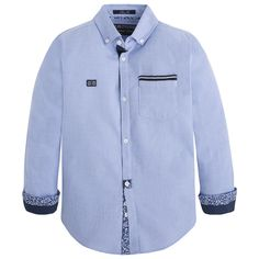 Camisa manga larga Azules - Mayoral Baby Shirts, Polo T Shirts, Kids Shirts, Body One, Mens Shalwar Kameez, Kids Outfits, Baby Boy Outfits, Boys Wear, Kids Fashion Boy