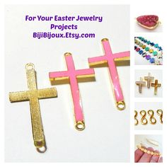 $8.00 #Rainbow Metallic #Cross #Beads, Non Magnetic Hematite Cross Beads, Purple, Blue Gold Cross, 10mmx10mm Beads for Jewelry Making, Easter Project https://www.etsy.com/listing/201502398/rainbow-metallic-cross-beads-non?ref=shop_home_feat_4