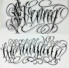 Chicano Lettering Plus Tattoo Lettering Design, Gothic Lettering, Chicano Lettering, Graffiti Lettering Fonts, Calligraphy Tattoo, Tattoo Script, Script Lettering, Tattoo Fonts Alphabet, Hand Lettering Alphabet