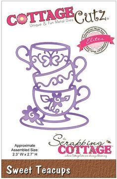 Cottage Cutz - Dies - Sweet Teacups,$18.95