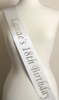 18th Birthday Party Sash, Birthday Party Sash, Birthday Sash, 18th Birthday Party, 18th Birthday Gift, Fun Party Sash, 18th Birthday Favors