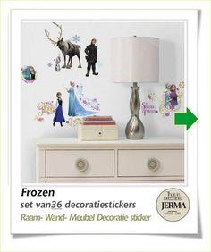 Spectacular Decoratie stickers Herbruikbare decoratie stickers Frozen de super mooie film van Disney