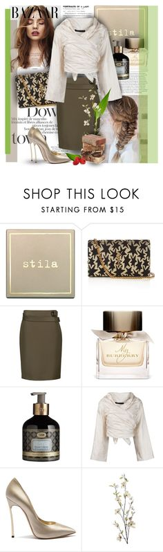 """Untitled #198"" by senalica ❤ liked on Polyvore featuring Stila, Yves Saint Laurent, 3.1 Phillip Lim, Burberry, The Row, Casadei and Pier 1 Imports"