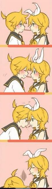 (๑・㉨・๑) ✮ ANIME ART ✮  DONT YOU DARE KISS MY LEN!!! I WILL HUNT YOU DOWN RIN!!!