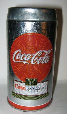 Small Vintage Coca-Cola Galvanized Tin - shaker?