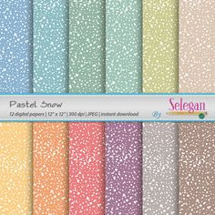 Pastel Snow, Digital Scrapbook Paper by Selegan on Etsy Download Here:- https://www.etsy.com/listing/249468818