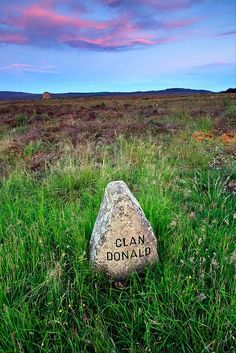Clan Donald Headstone, Culloden by VisitScotland, via Flickr  http://www.flickr.com/photos/visitscotland/6271378809/in/photostream/