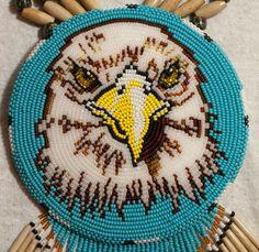 0239 Bald Eagle Medallion Necklace on Etsy, $200.00