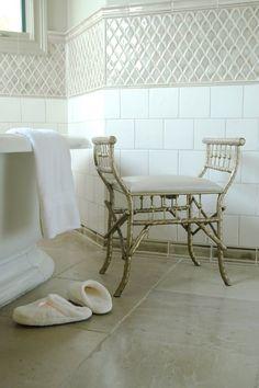 Master bath - tile, flooring, bench