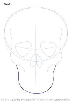 Skull is a structure of human head. It is very easy to draw it like below.