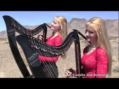 Highway to Hell - AC/DC (Electric Harp Duet) Camille and Kennerly, Harp Twins