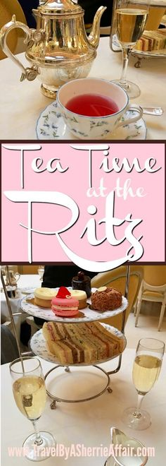 High Tea at the London Ritz! A perfect way to experience a true High Tea. So many teas to choose from and the food is delicious! Make sure you book ahead of time because this special occasion fills up! #hightea #Ritz #LondonRitz #Tea #England