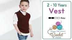Crochet Toddler to 10 Years Vest + Tutorial