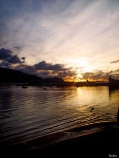 Sunset from Getxo by Donibane