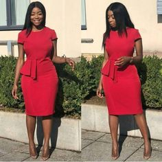 Corporate Gowns for Ladies in Nigeria You Can Rock To Office 2020 - Dabonke : Nigeria Latest Gist and Fashion 2019 Source by Dresses Office Wear Dresses, Office Dresses For Women, Dress Outfits, Dresses For Work, Fashion Outfits, Office Outfits, Office Uniform, Casual Office, Latest African Fashion Dresses