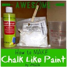How to make chalk - like paint from VMG 206
