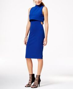 Material Girl Juniors' Textured Cutout Popover Bodycon Dress, Only at Macy's
