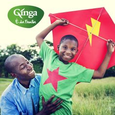 Bom dia Família Ginga!  Já têm programa para hoje? Que tal ir lançar papagaio com o papá?!  Ginga – a marca da família angolana