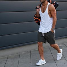 White #tank shorts and @adidas #boost by @kosta_williams [ http://ift.tt/1f8LY65 ]