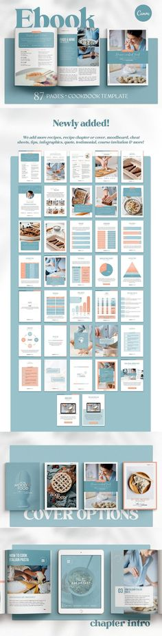 Recipe Book Template. Cookbook CANVA. File Size: 514.18 KB. Dimensions: 8.5 x 11 in, 8.3 x 11.7 in. Layered. Recipe Book Templates, Cookbook Template, Library Page, Recipe Cover, Image Layout, Content Page, Ebook Cover, Planner Pages, Cover Pages